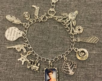 Twin Peaks Sheriff Station Charm Bracelet, inspired by the Laura Palmer case.