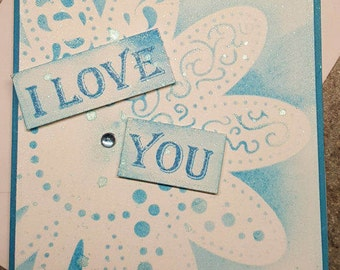 I Love You Note Card