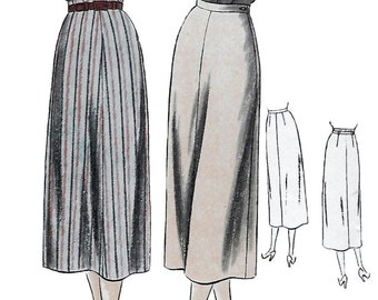 Vogue 6333 Womens 40s Pencil Skirt Sewing Pattern Waist 26 Hip 35