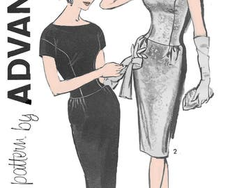 Advance 9622 Women's 60s Sheath Fitted Dress Sewing Pattern Size 16 Bust 36