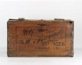 Vintage Beer Crate, Metz Bros. Brewing Co. Omaha NE, Vintage Beer Crate, Metz Beer, Old Beer Crate, 1920's Beer Crate, XXL Beer Crate