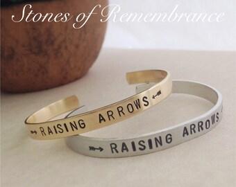 Raising Arrows Mother's Cuff Bracelet