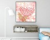nature abstract, nature art, tree art, abstract art, bedroom art, home decor, office art, art, home decor, abstract art prints, girls room