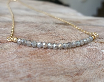 Labradorite Necklace, Labradorite Bar Necklace, Gold Labradorite Bar Necklace, Gold Labradorite Necklace, Labradorite Bar, Bar Necklace