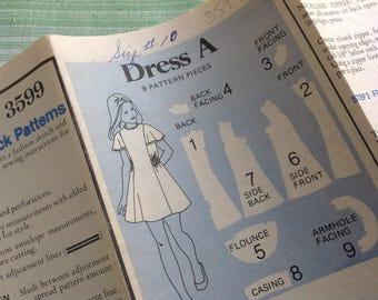 Vintage Butterick Pattern 3599 - Girl's Dress Pattern, 70's Children's Pattern, Girl's Pattern