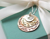 Mothers Necklace Personalized - Hand Stamped Necklace - Personalized Family Necklace - Custom Necklace - Mothers Jewelry - Mom Christmas -