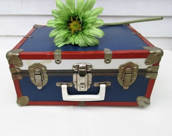 Vintage Roller Skates | Roller Skate Suitcase | Old Metal Suitcase | Leather Shoes | Wood Rollers - As Is