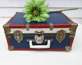 Vintage Metal Suitcase | Roller Skates | Roller Skate Suitcase | Leather Womens Roller Skates | Wood Rollers - As Is