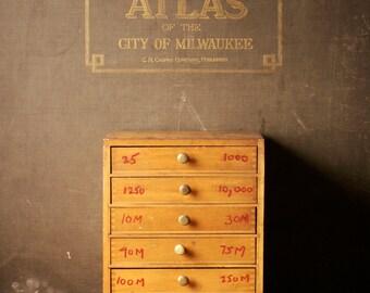 Vintage Wood Storage Box With Wirt Radio Resistors