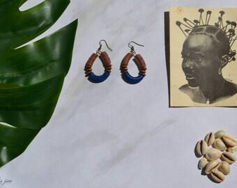 Ariyo tribal earrings afrocentric  bespoke  artisan jewelry  ethnic jewelry  african jewelry  tribal jewelry - african earrings - jewelry