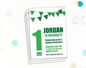 Editable Birthday Party Invitation, First Birthday, 1st Birthday, Invitation Template, Printable Invitation, DIY Birthday Invite