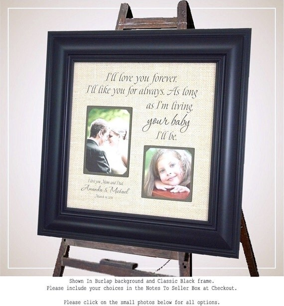 Wedding Gift For Couple Living With Parents : Personalized Wedding Frames, Parents Wedding Gift, Ill Love You ...