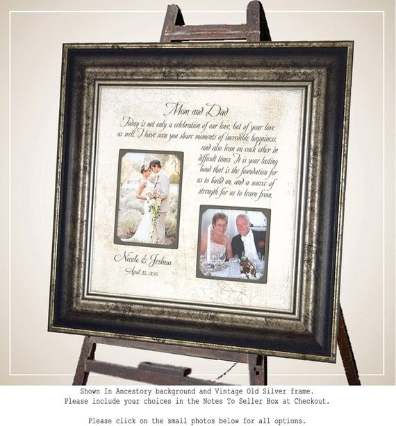 Personalized Wedding Frame Parents of the Bride Parents of the Groom ...