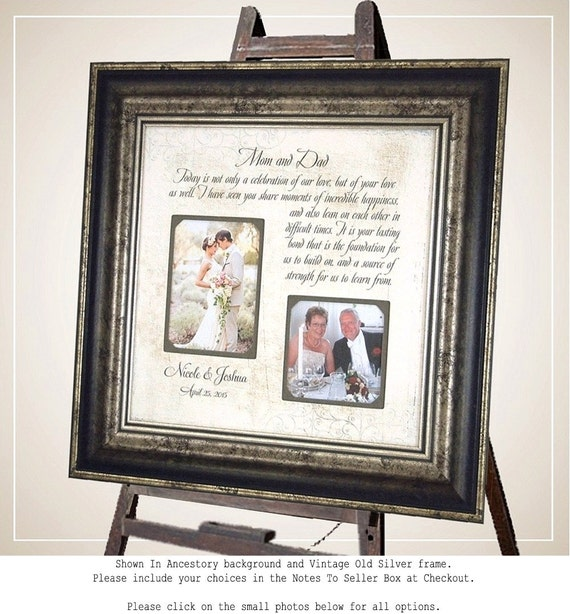 Personalized Wedding Photo Frames For Parents : Personalized Wedding Frame Parents of the Bride Parents of the Groom ...
