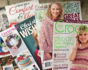 Destash Crochet Pattern Magazines, Book - Choose 1 - Christmas Wishlist, Comfort and Joy, Crochet Summer 2016, Great Yarns Great Styles