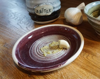 Garlic Grater - Made to Order - With Brush and Garlic Peeler