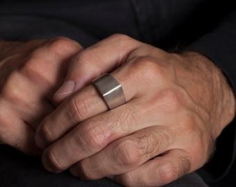 Cool Mens Ring,  Peak Ring in Sterling Silver