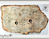 Large Goonies Treasure Map Print