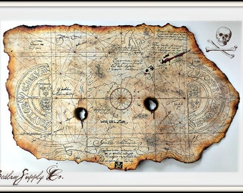 Large Goonies Treasure Map Print