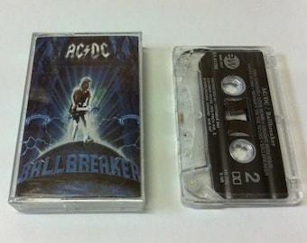 AC/DC - Ballbreaker - vintage tape cassette audio - hard rock - blues - metal - 1995 90s - Riff Raff - Columbia - Free shipping Canada USA