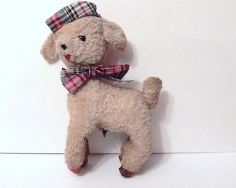 Vintage Lamb - Plush Lamb - Musical Lamb - Musical Toy - Shabby Lamb - Vintage Plush -Vintage Nursery