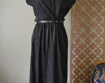 Gold and Black 70s Disco Dress Sz.8