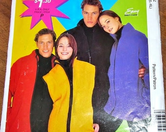Easy Sewing Pattern McCall's 2870 P479 Mens Womens Unisex Outerwear Zip Front Jacket, Sports Vest Size L XL Bust Chest 42-44 46-48 Uncut FF