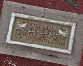 Good Tidings Merry Christmas counted cross stitch patterns OPTIONAL embellishments by The Drawn Thread dove Winter December 25