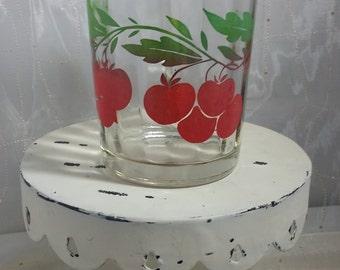 Cherry vintage 1 Qt fluted pitcher 1950s
