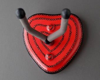 Instrument Wall Hanger Hook for Ukulele, Fiddle, Mandolin, Violin or Guitar - Ready to Ship - Heart