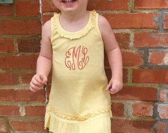 Sunflower Monogram Dress