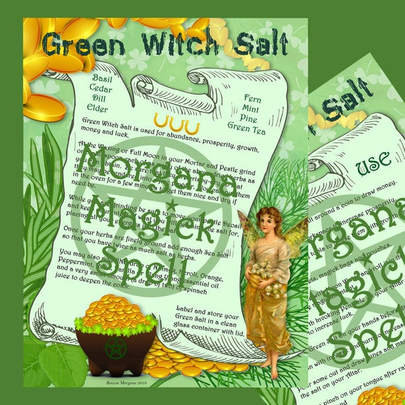 GREEN WITCH'S SALT - Prosperity, Money & Luck