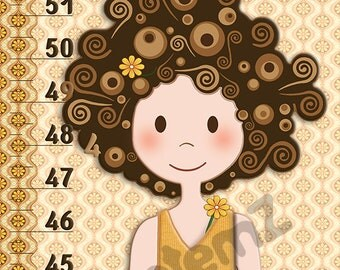 Growth Chart Girls Height Chart  in Metric or Imperial