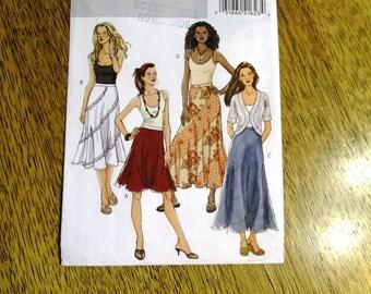 BOHO Bias Cut Skirt / Flared A Line Skirt / Patchwork Swirl Design - PLUS Size (18 - 20 - 22) - UNCUT Sewing Pattern Butterick 5042