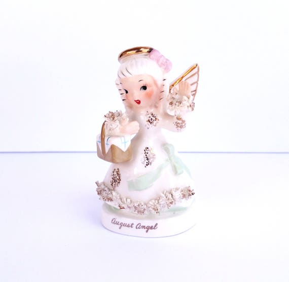 Vintage August Angel China Figurine by Lefton