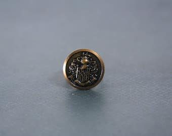 Family Crest Ring Coat of Arms Jewelry - made with a vintage metal button