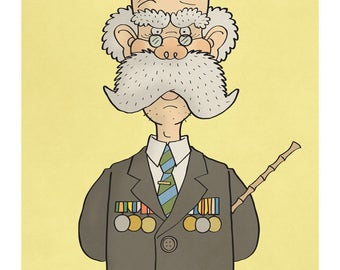 The Colonel - Illustration Print