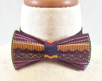 SALE Seed Bead Statement Bow Tie