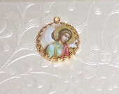 Vintage angel painting art print image charm cabochon diy jewelry making