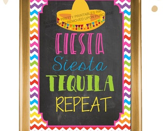 Bachelorette signs bundle / printable set of 5 fiesta bachelorette signs / bachelorette decor / fiesta siesta tequila sign / final fiesta