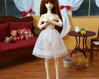 Pre-order: MSD SD BJD White petticoat