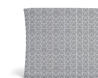 Changing Pad Cover Grey Triangle Stack - ModFox Exclusive- Grey Changing Pad- Triangle Changing Pad- Minky Changing Pad Cover- Organic Cover