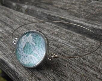 Wedding Lace Bracelet. CHOOSE Your AMOUNT. Custom Bracelet.  Bridesmaid Gift, Gift For Mom, Bridal Jewelry. Memory Locket