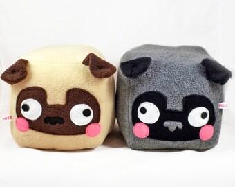 PUG cube plushie kawaii soft toy pillow cushion novelty home decor dog love animal plusheez