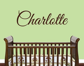 Custom Name Wall Decal - Girls Name Decals - Nursery Name Wall Decal - Home Decor - Personalized Wall Decal - Great Vibes 1036