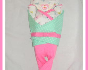 Baby Girl Pink And Teal Butterfly Diaper Cake Baby-Gorgeous Centerpiece/Gift