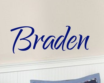 Boy Name Wall Decals Personalized Name Wall Decal Baby Name Decal Boys Room Decor Baby Boy Nursery Name Decal Vinyl Wall Decal Lettering