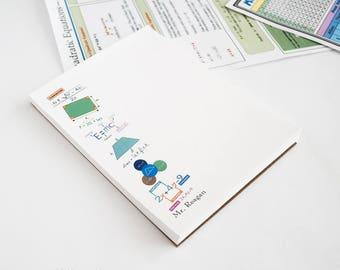 Math Genius Notepad/ Math Teacher Notepad