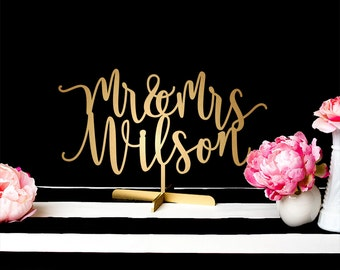 Custom Wedding Sign - Mr and Mrs Sweetheart Table Sign - Blissful Collection