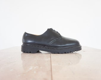 90s Dr. Martens Chunky Black Leather Oxford Shoes / Men's Size 8.5 US - 8 UK - 41/42 Eur